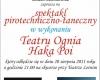 Spektakl pirotechniczno-taneczny Haka Poi